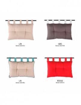 Tête de lit à pattes - 45 x 70 cm - Duo - Différents coloris