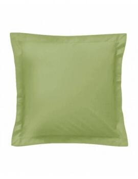 Taie d'oreiller carrée - Vert - 65 x 65 cm - 57 fils - 100% coton - Vert - Made in France