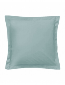 Taie d'oreiller carrée - Turquoise - 65 x 65 cm - 57 fils - 100% coton - Made in France
