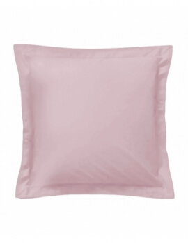 Taie d'oreiller carrée - Rose - 65 x 65 cm - 57 fils - 100% coton - Made in France