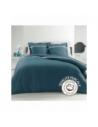 Housse de couette - 240 x 260 cm + taies - Percale - Bleu - 78 fils - Uni