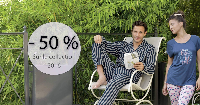 - 50 % sur la collection 2016